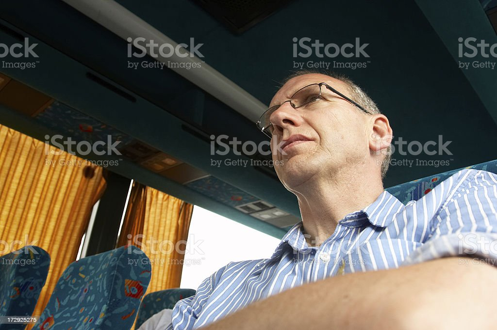 Man on a coach royalty-free stock photo