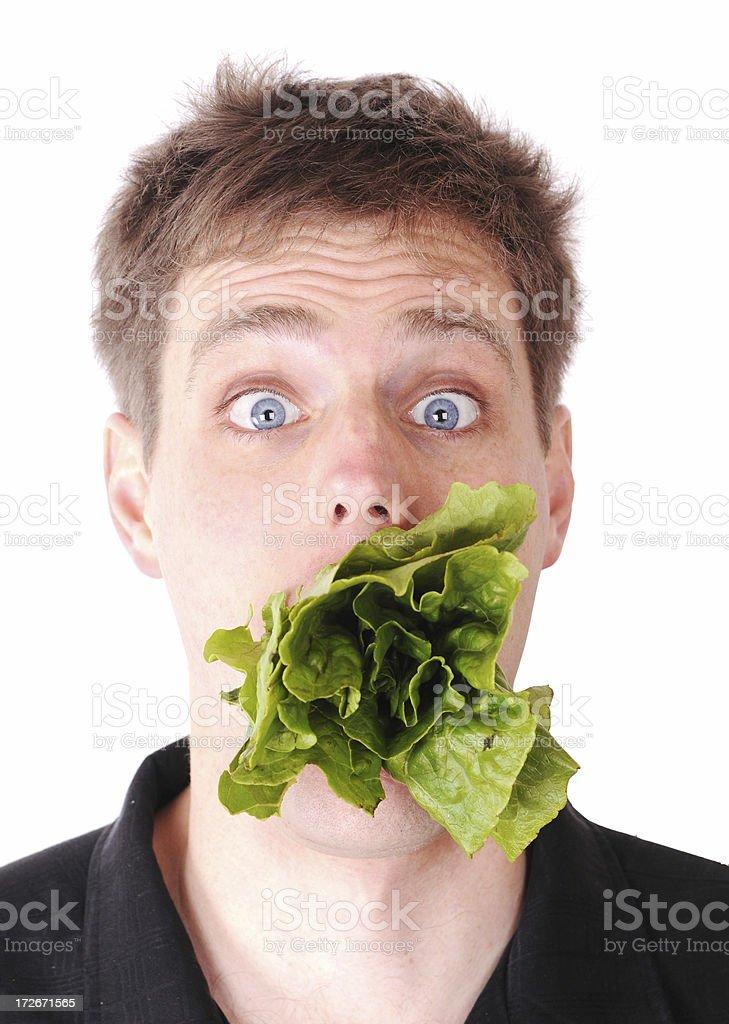 Man on a Diet Series: Lettucehead stock photo