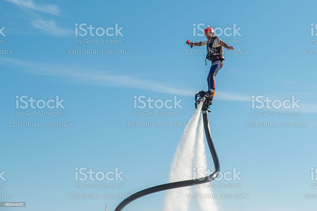 Man on a Flyboard. stock photo