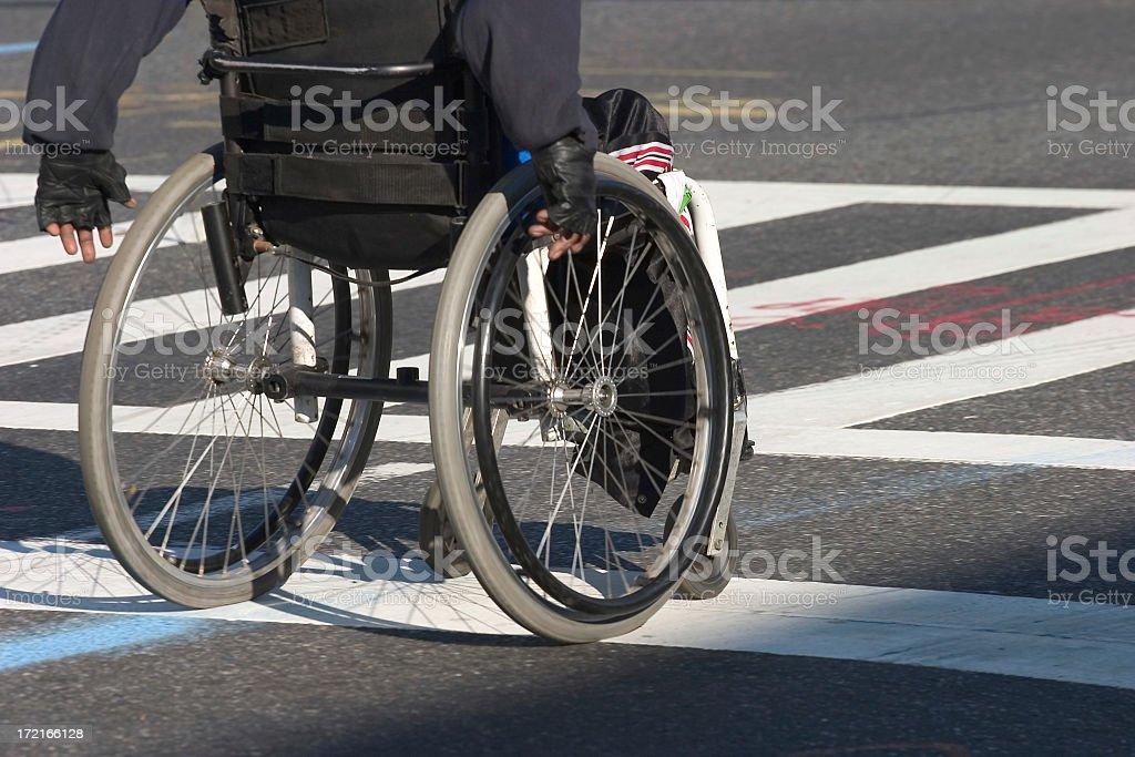 Man on a wheelchair royalty-free stock photo