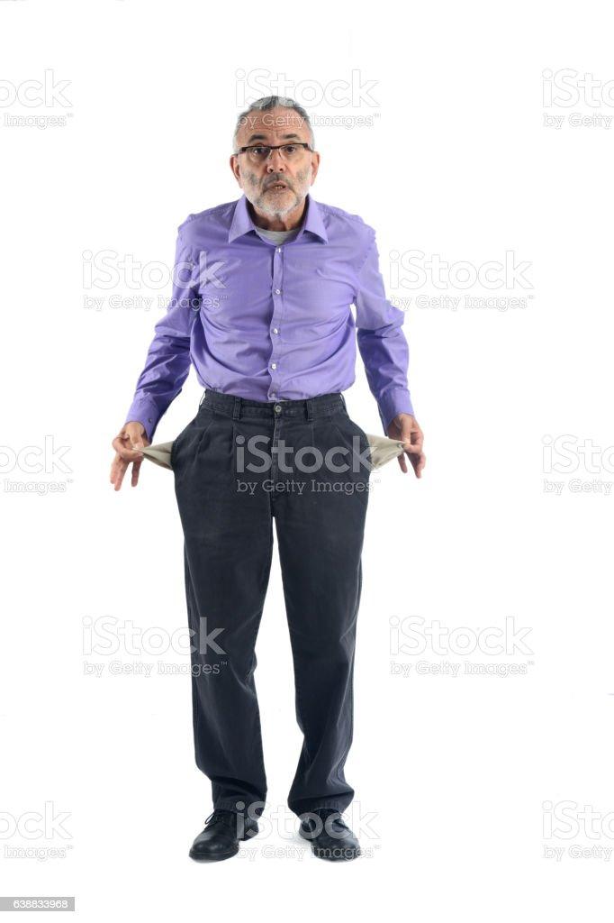 Man on broken bench stock photo