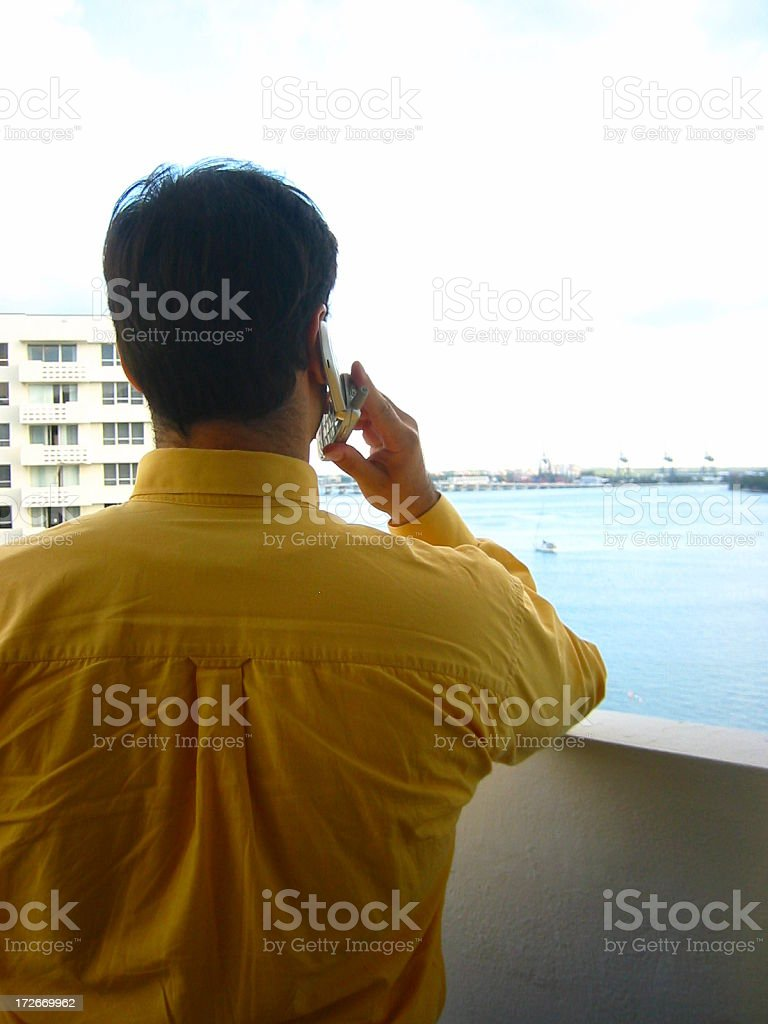 Man on cell phone royalty-free stock photo