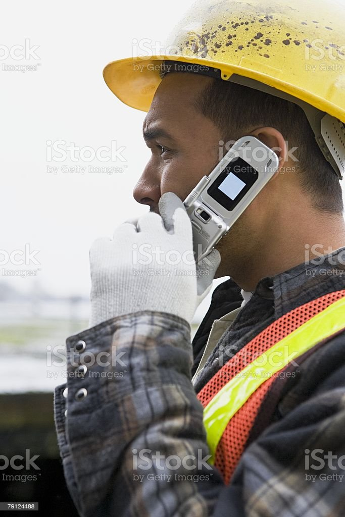 Man on cellphone royalty-free stock photo