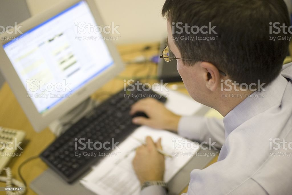 Man on Computer royalty-free stock photo