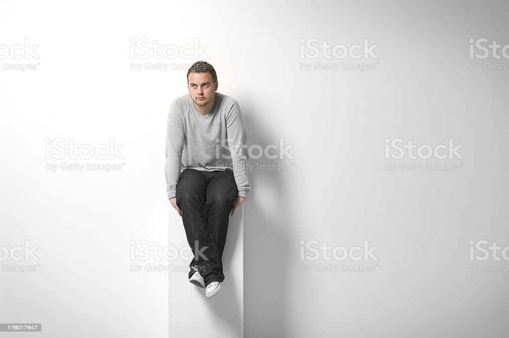 man on display royalty-free stock photo
