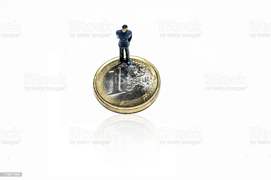 uomo su euro royalty-free stock photo