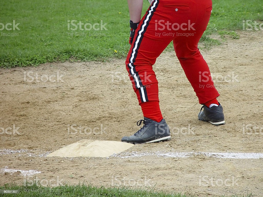 Man on first royalty-free stock photo