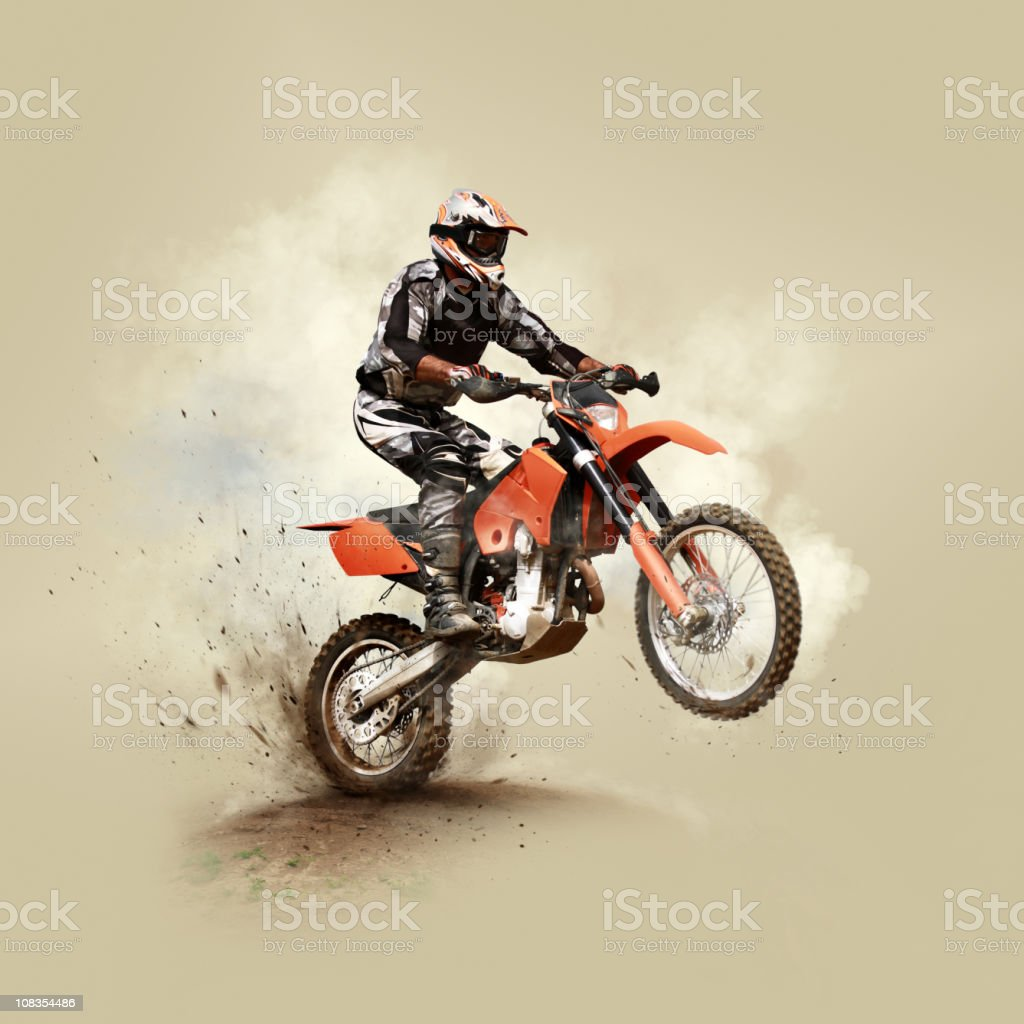 Man on his sport motor stock photo