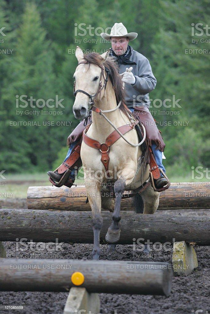 Man on horse. stock photo