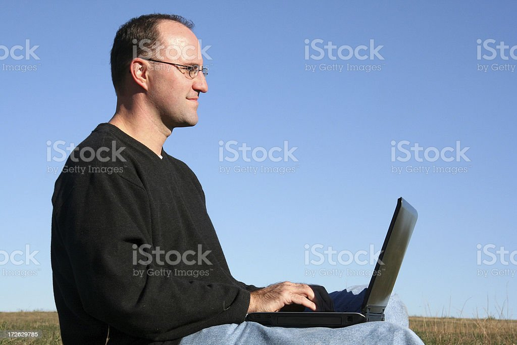 Man on Laptop royalty-free stock photo