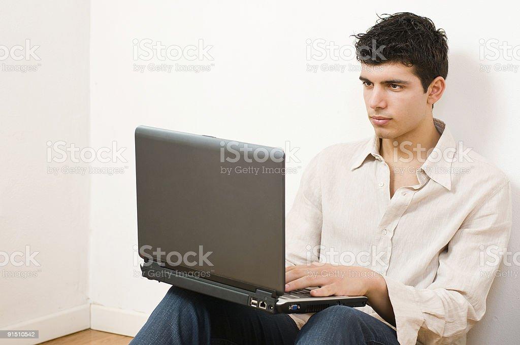Man on laptop royalty-free stock photo