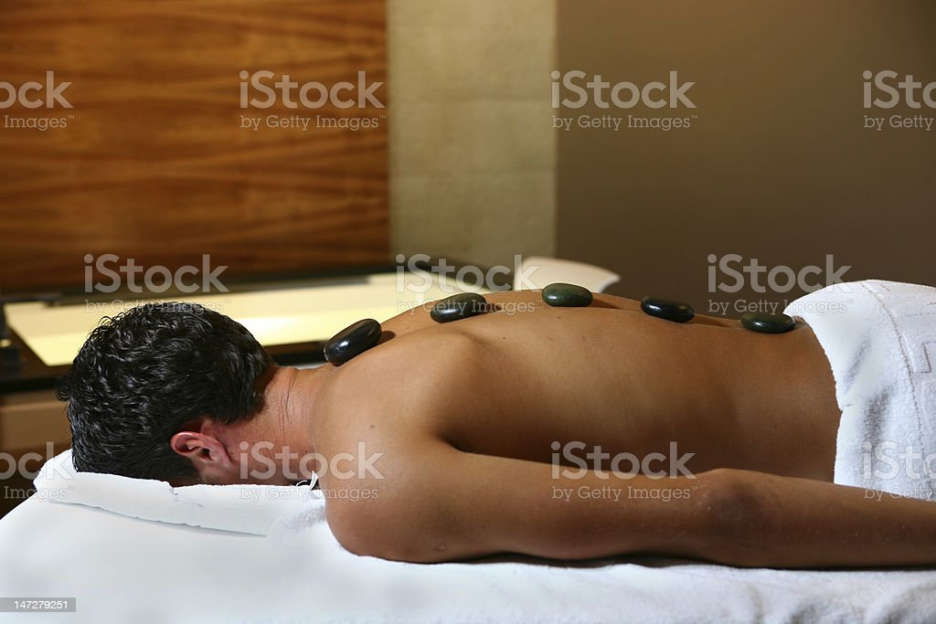 Man on massage royalty-free stock photo