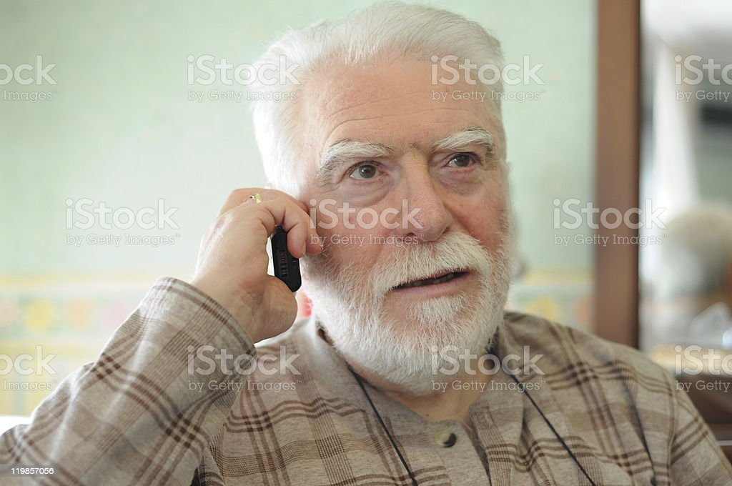 man on phone royalty-free stock photo