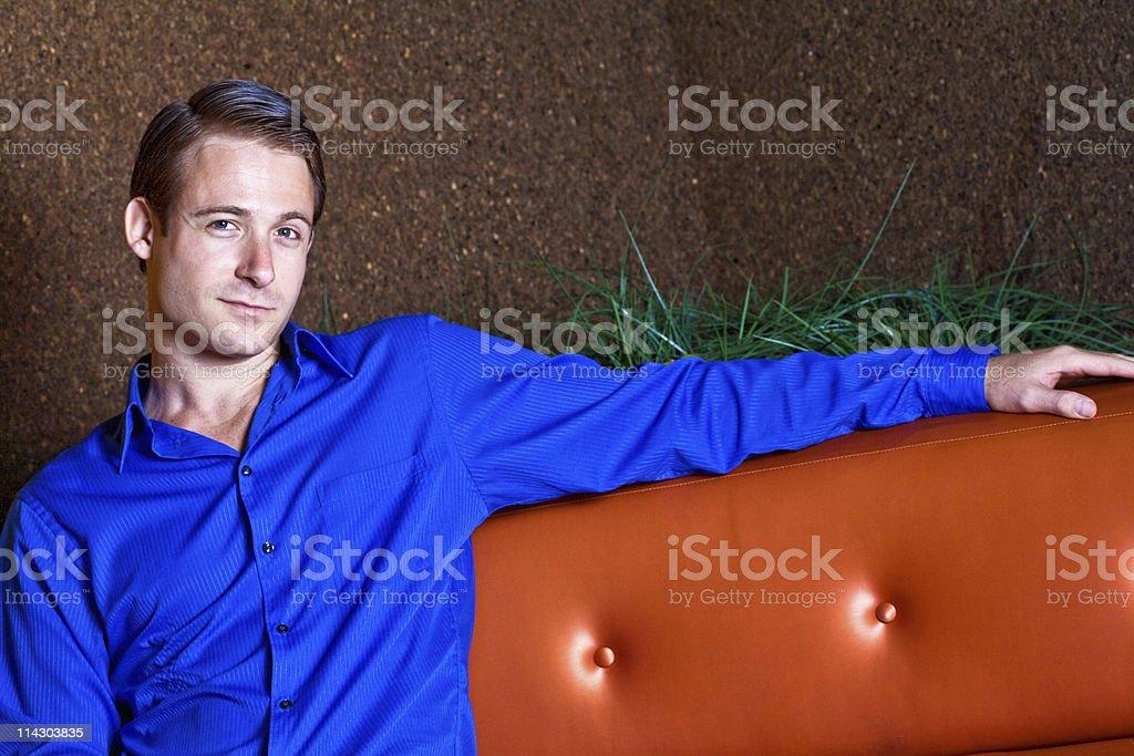 Man On Sofa royalty-free stock photo