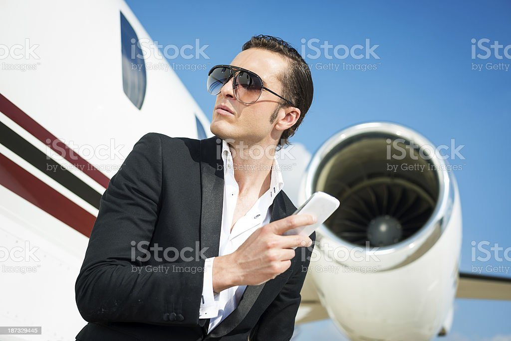 Man on the airport royalty-free stock photo