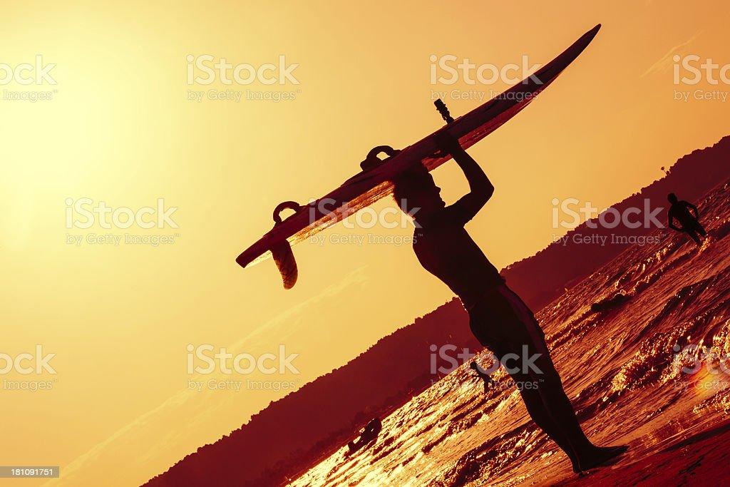 Man on the Beach royalty-free stock photo