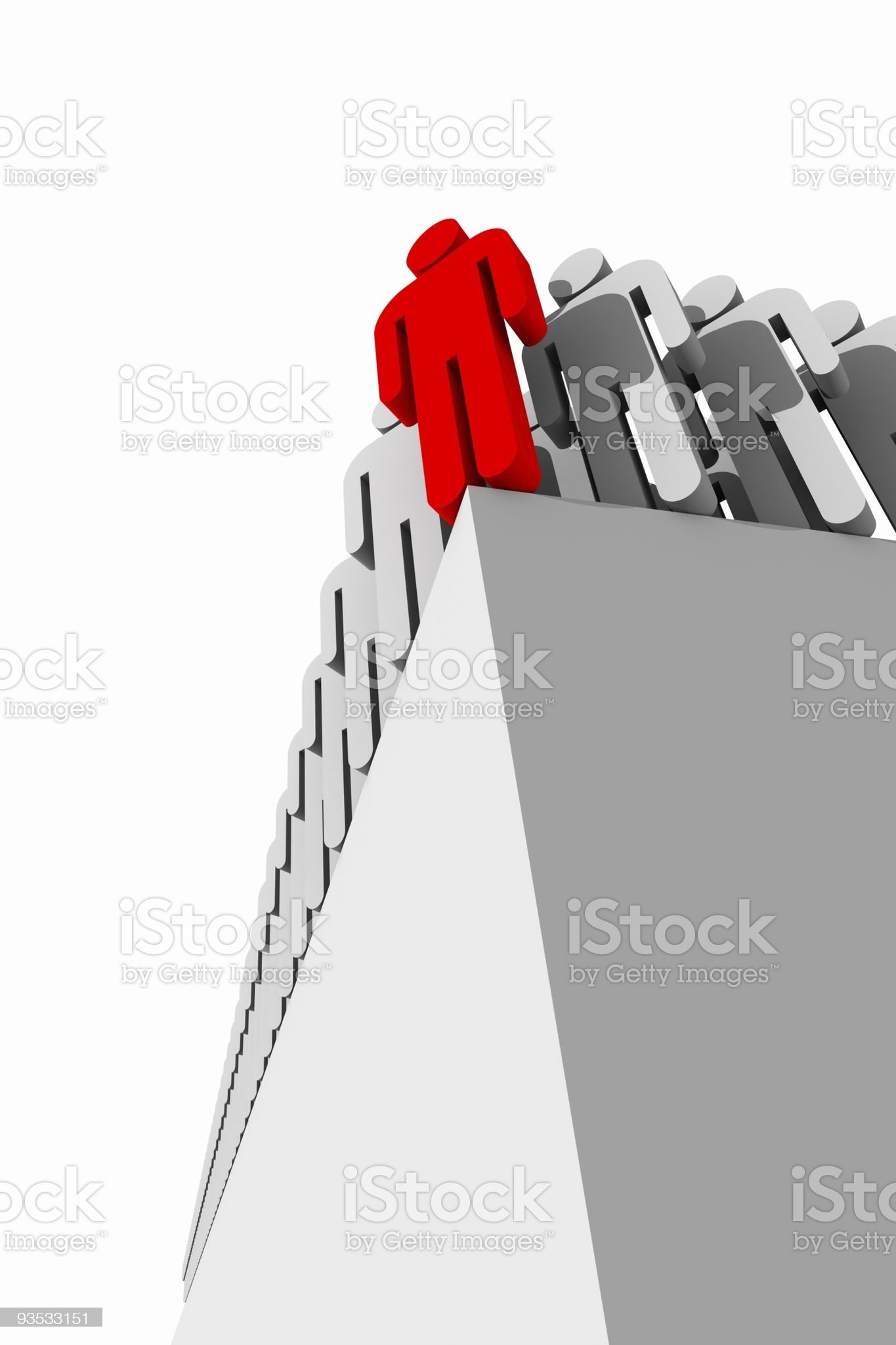 man on the edge royalty-free stock vector art