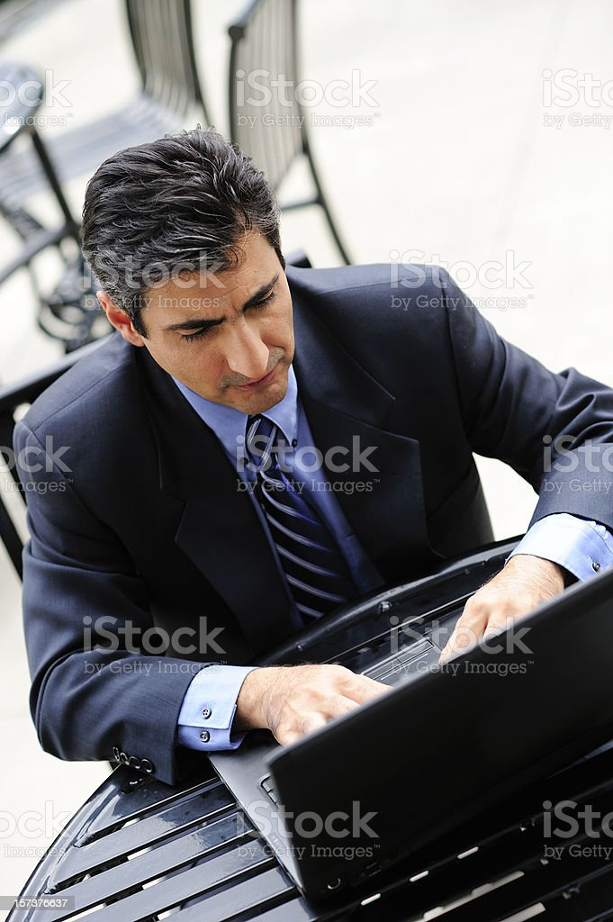 Man on the Laptop royalty-free stock photo