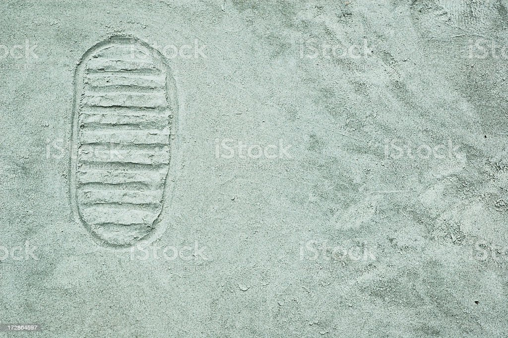 Man on the Moon Footprint royalty-free stock photo