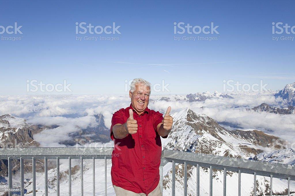Man on the mountains. royalty-free stock photo