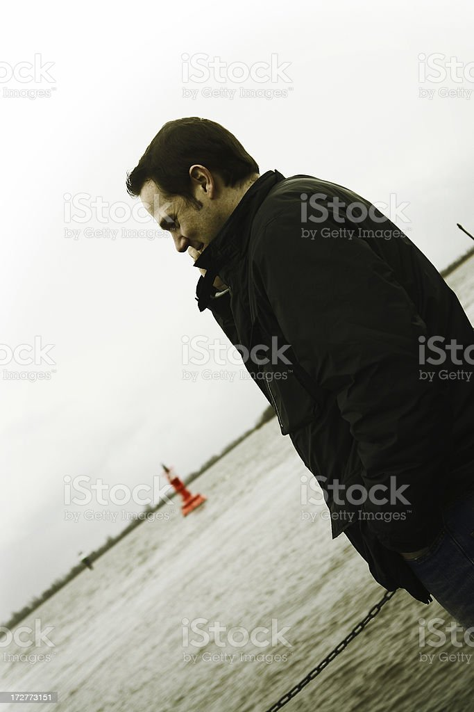 Man on the Telephone royalty-free stock photo