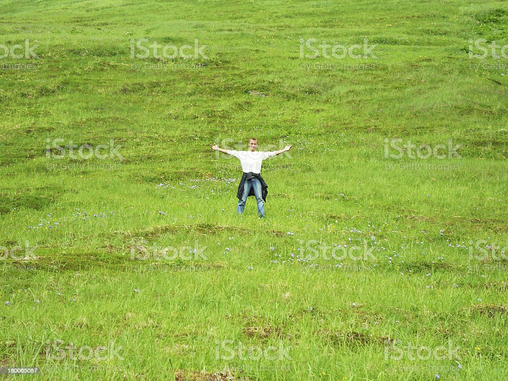 Man on the top. royalty-free stock photo