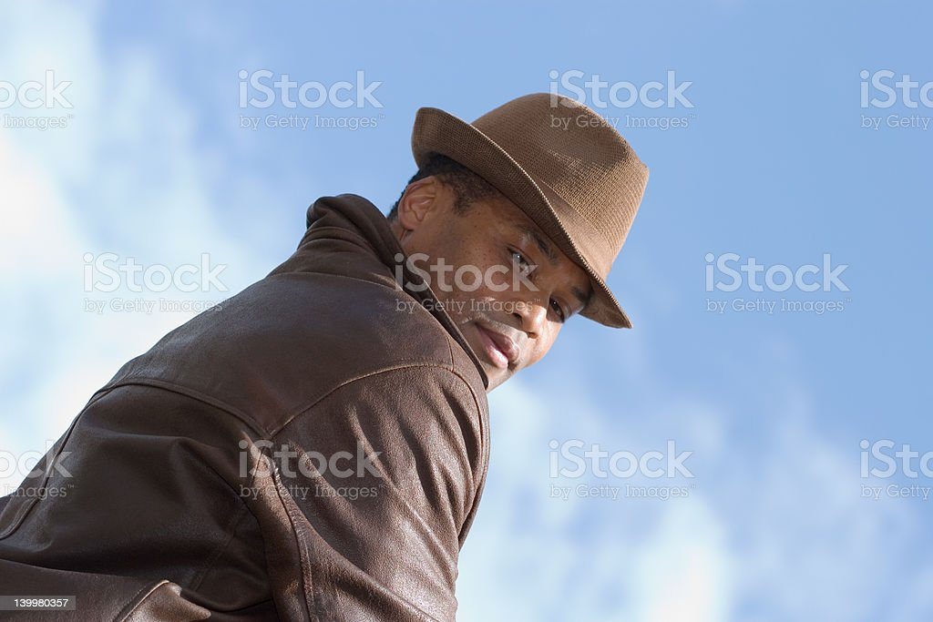 man on top of today royalty-free stock photo