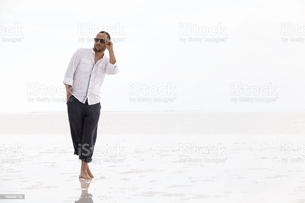 man on water royalty-free stock photo