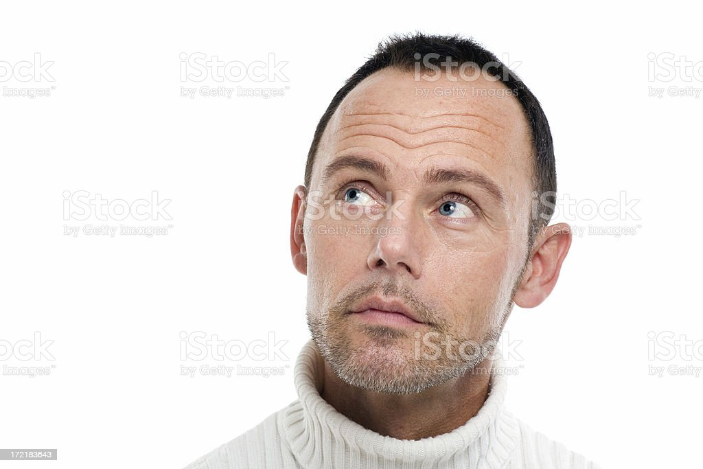 Man On White royalty-free stock photo