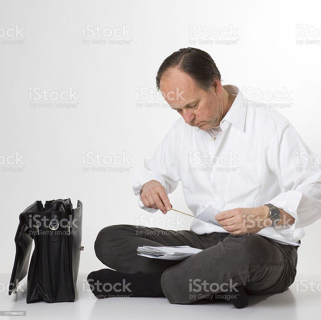 man opening mail stock photo
