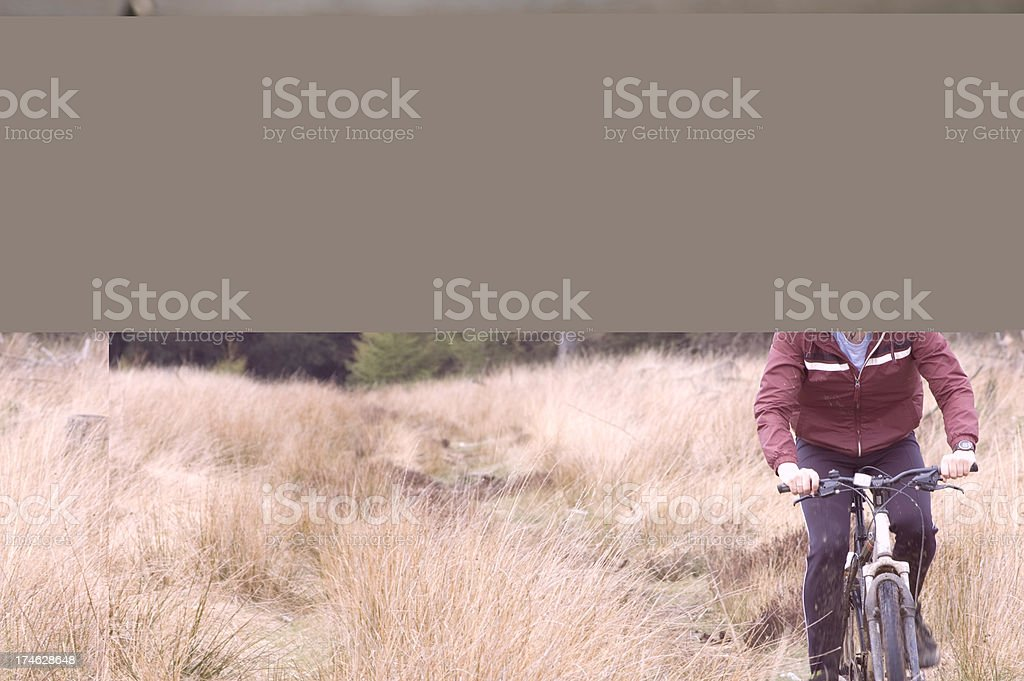 Man out mountain biking royalty-free stock photo