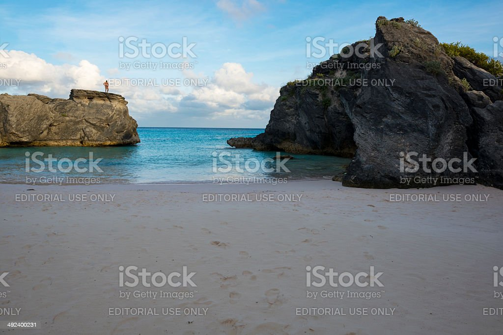 Man outdoors in Bermuda stock photo