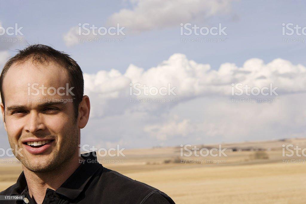 Man Outside royalty-free stock photo