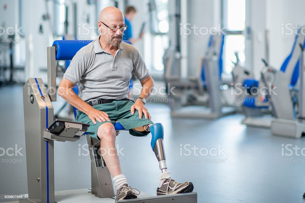 Man Overcoming Adversity stock photo