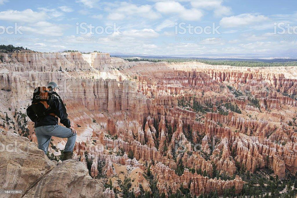 XXL man overlooking canyon royalty-free stock photo