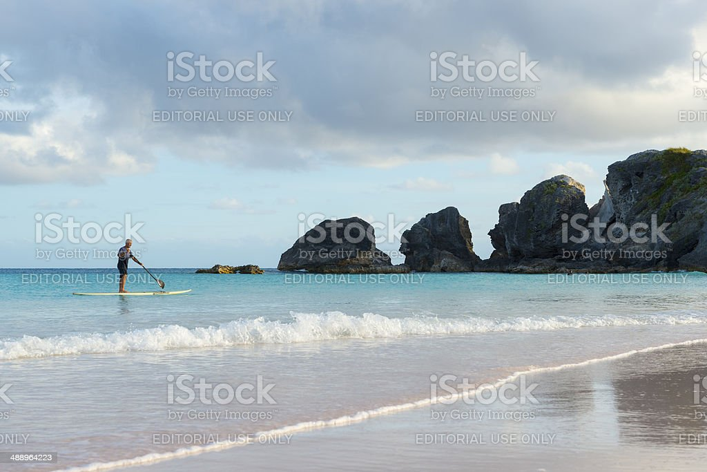 Horshoe Bay in Bermuda stock photo