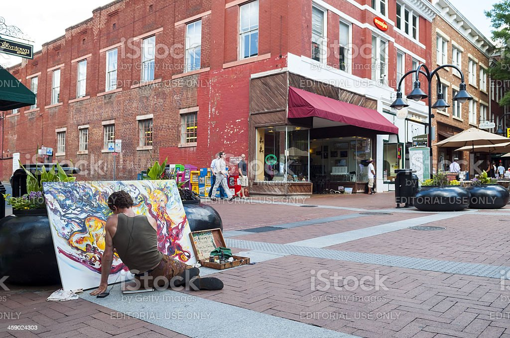 Painter in Charlottesville Virginia stock photo