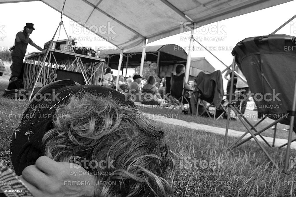 Uomo distribuiti a un Festival in Inghilterra foto stock royalty-free