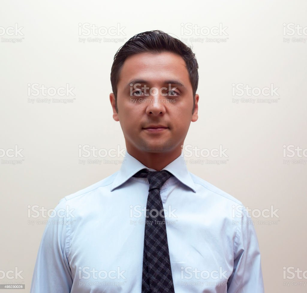man passport stock photo