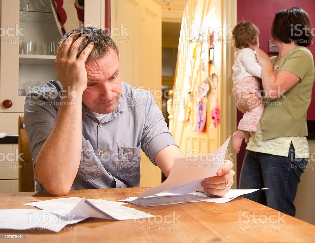 Man Paying the Bills royalty-free stock photo