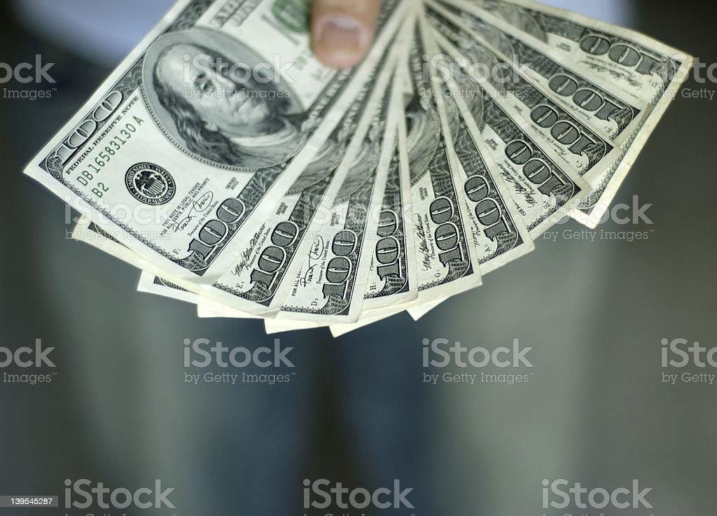 Man paying up stock photo