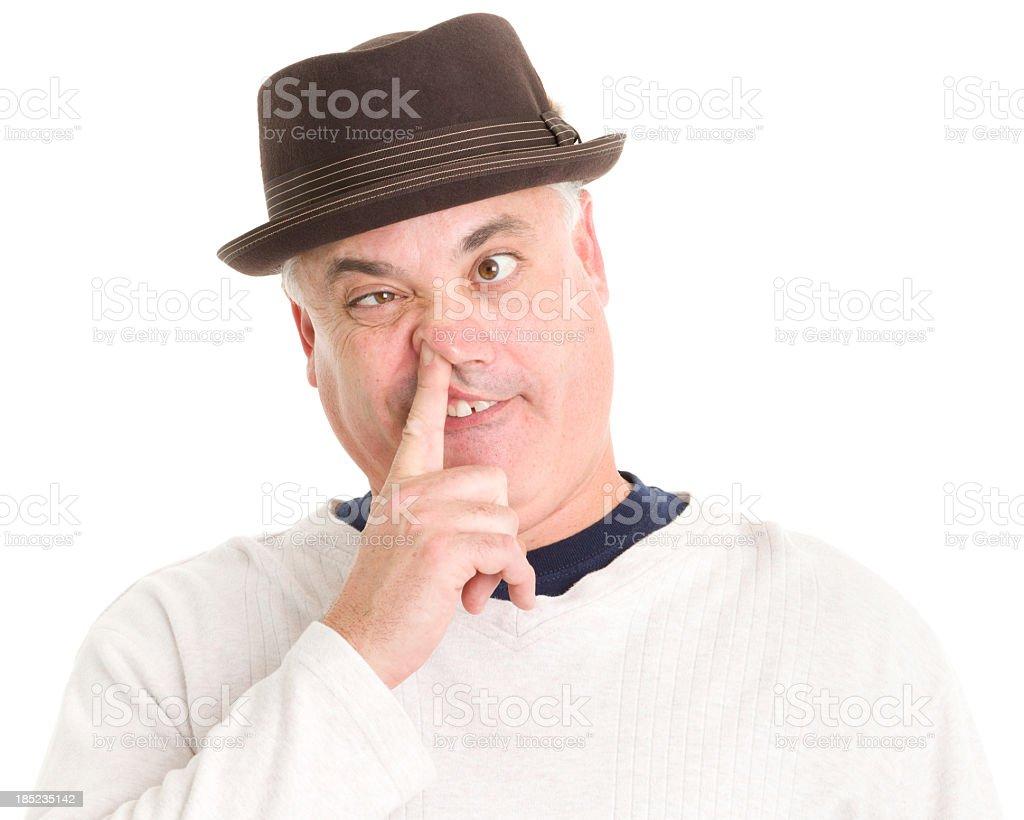 Man Picking Nose royalty-free stock photo