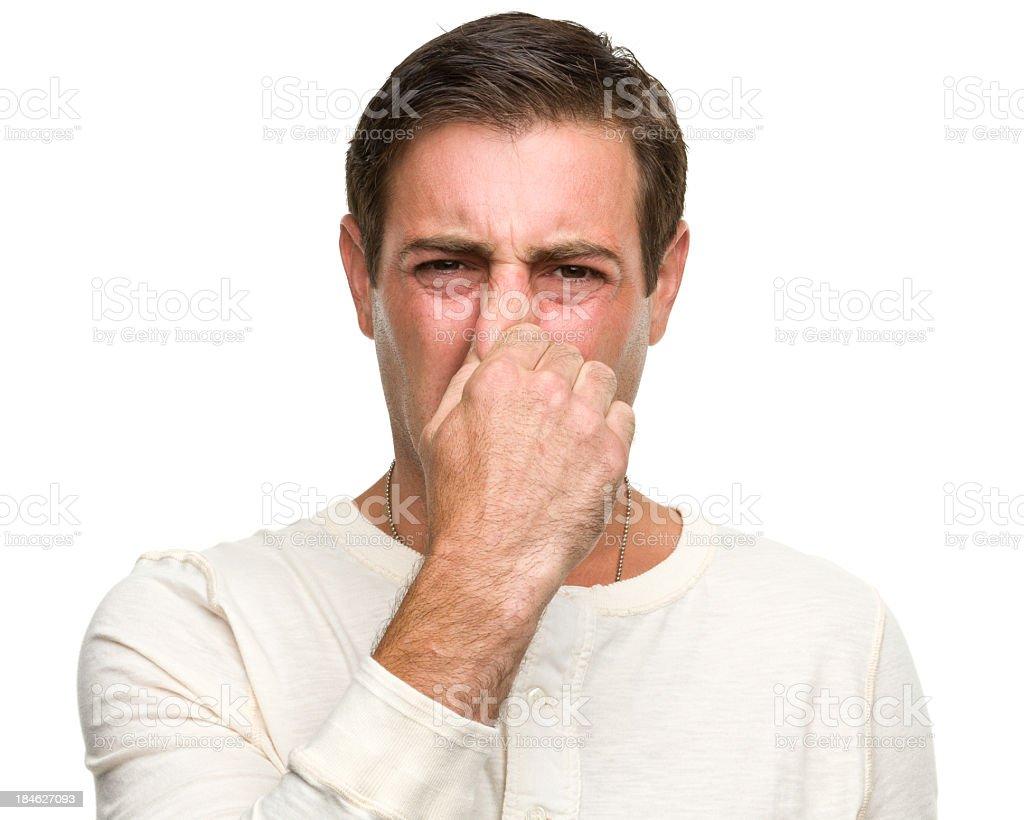Man Pinching Nose royalty-free stock photo