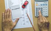 Man Planning Car payment