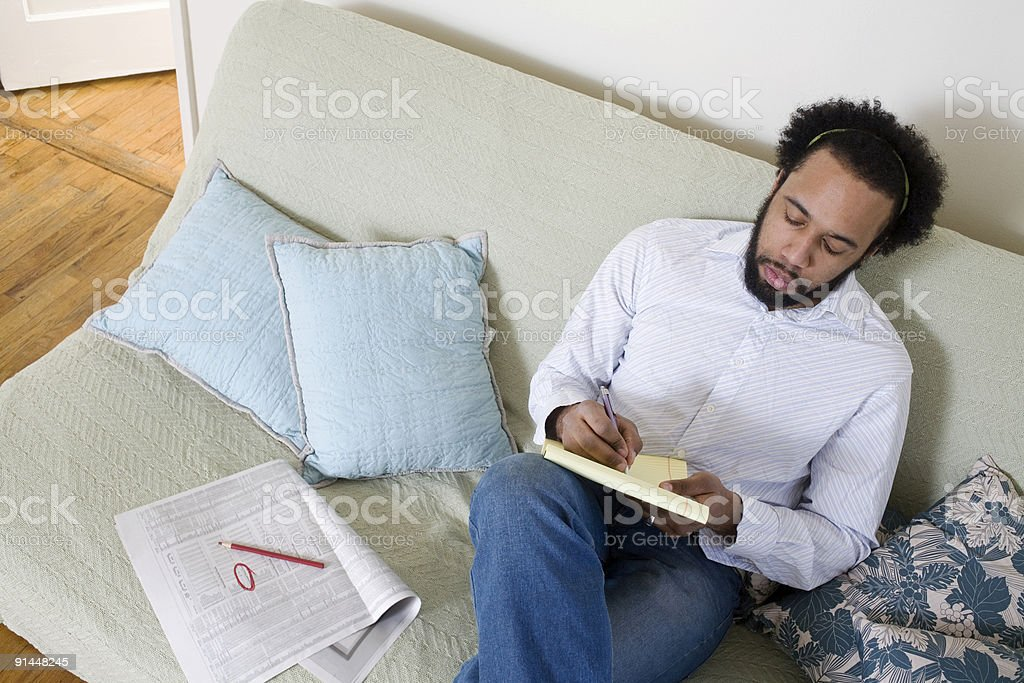 Man Planning stock photo