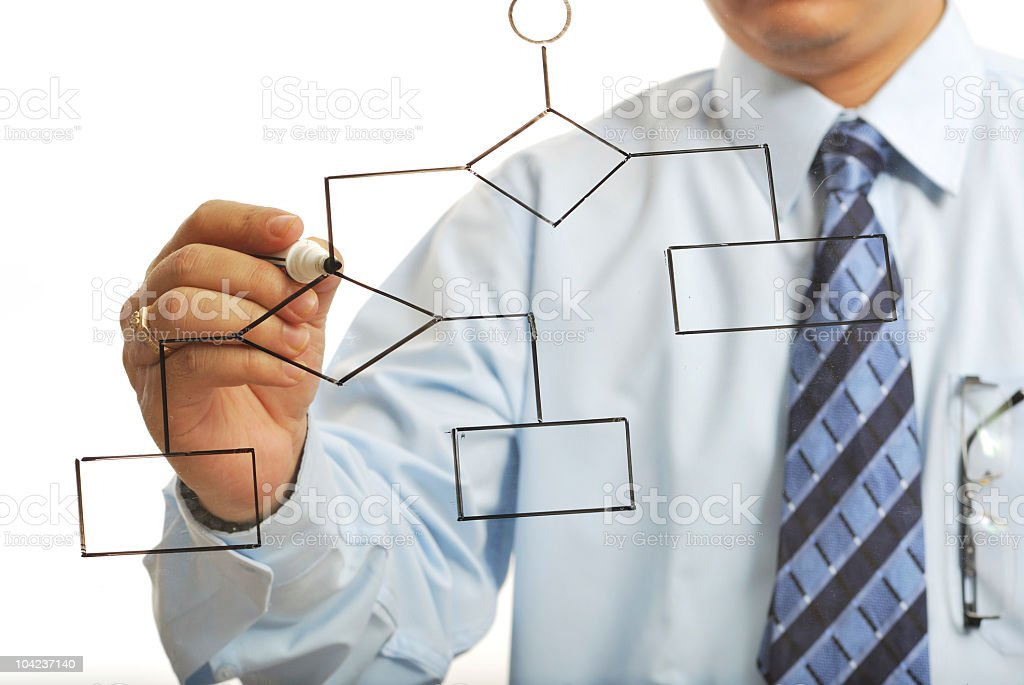 man planning the structure royalty-free stock photo