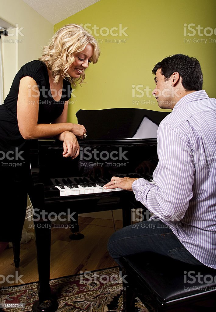 Man Playing a Piano stock photo
