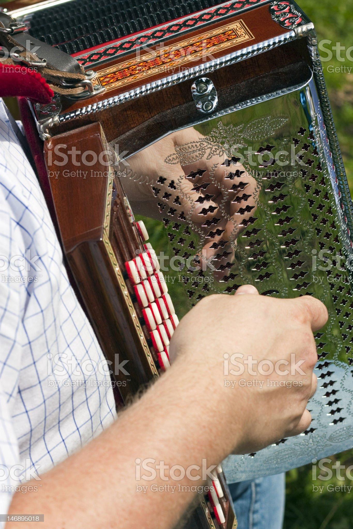 Man playing accordion royalty-free stock photo