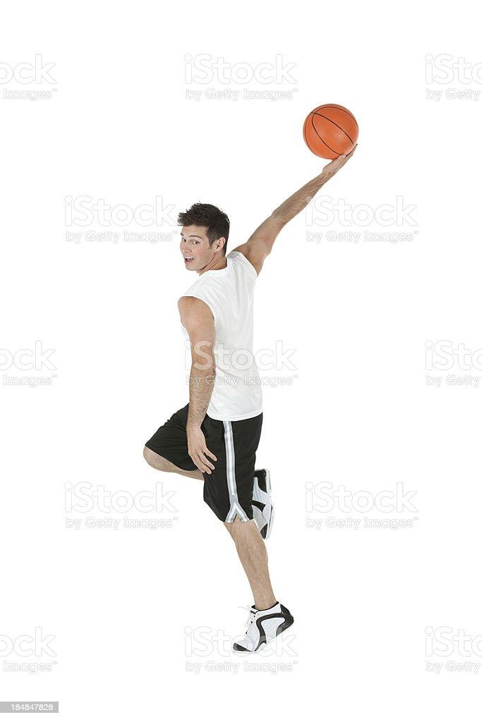Man playing basketball royalty-free stock photo