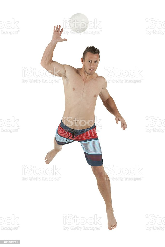 Man playing beach volleyball royalty-free stock photo